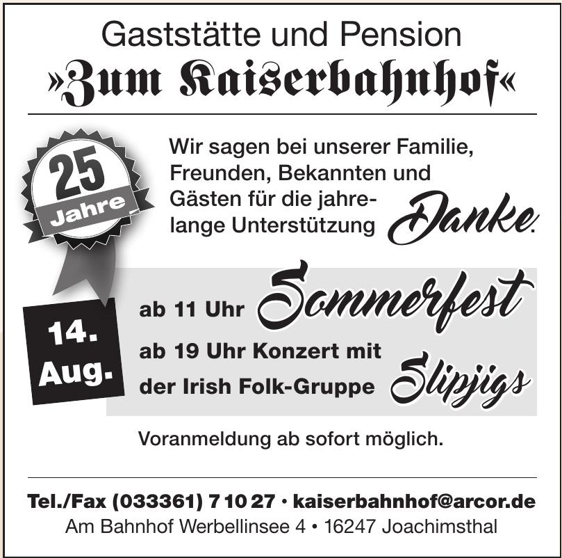 Gaststätte und Pension Zum Kaiserbahnhof