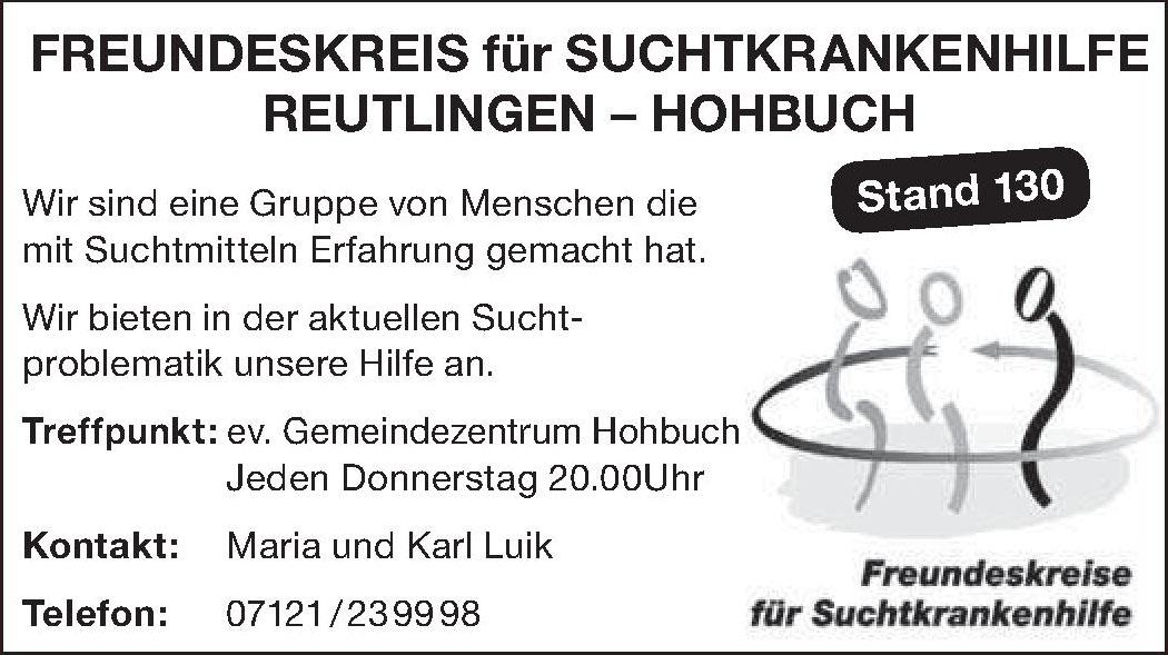 Freundeskreis für Suchtkrankenhilfe Reutlingen - Hohbuch