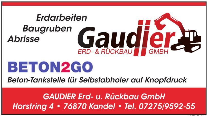 GAUDIER Erd- u. Rückbau GmbH