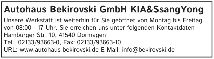 Autohaus Bekirovski GmbH KIA&SsangYong
