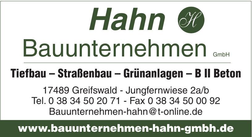 Hahn Bauunternehmen GmbH