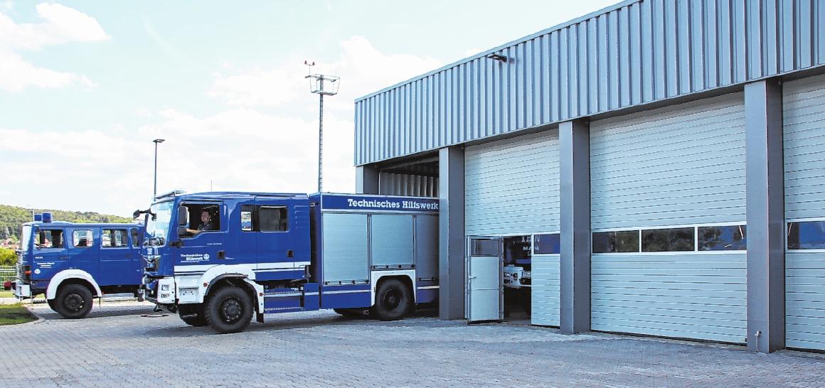Die Fahrzeug-Halle hat eine Nutzfläche von 326 Quadratmetern.