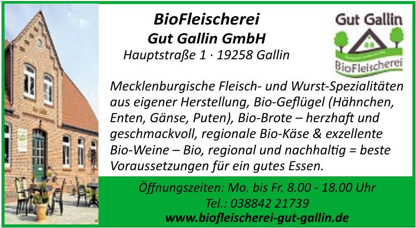 BioFleischerei Gut Gallin GmbH