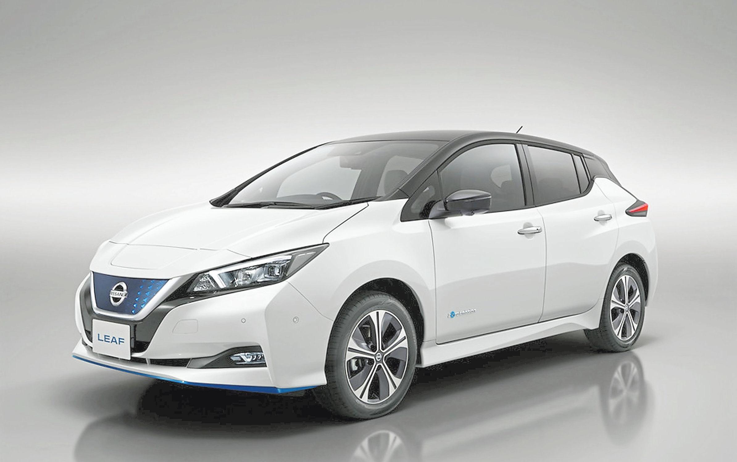 Das Autohaus Effing ist mit dem Elektroauto Nissan Leaf vor Ort. Das meistverkaufte Elektroauto Europas gibt es jetzt in zwei Batterievarianten – als Nissan Leaf mit 40 kWh Batterie und als Nissan Leaf e+ mit 62 kWh Batterie. Foto: Nissan