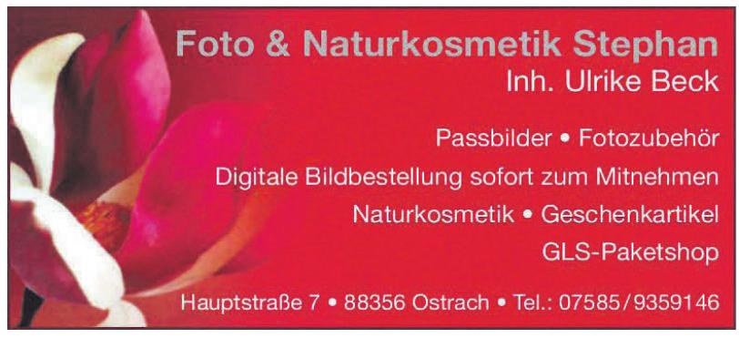 Foto + Naturkosmetik Stephan - Inh. Ulrike Beck