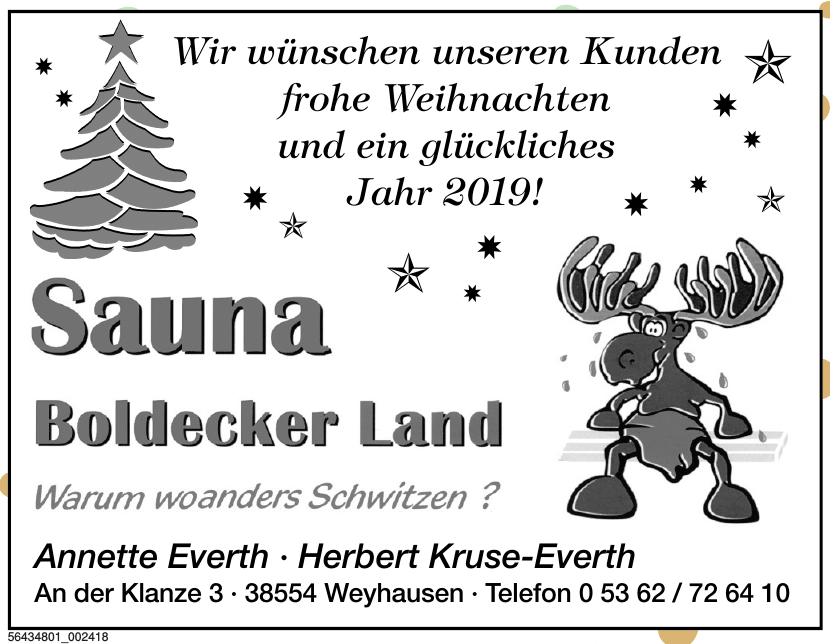 Sauna Boldecker Land