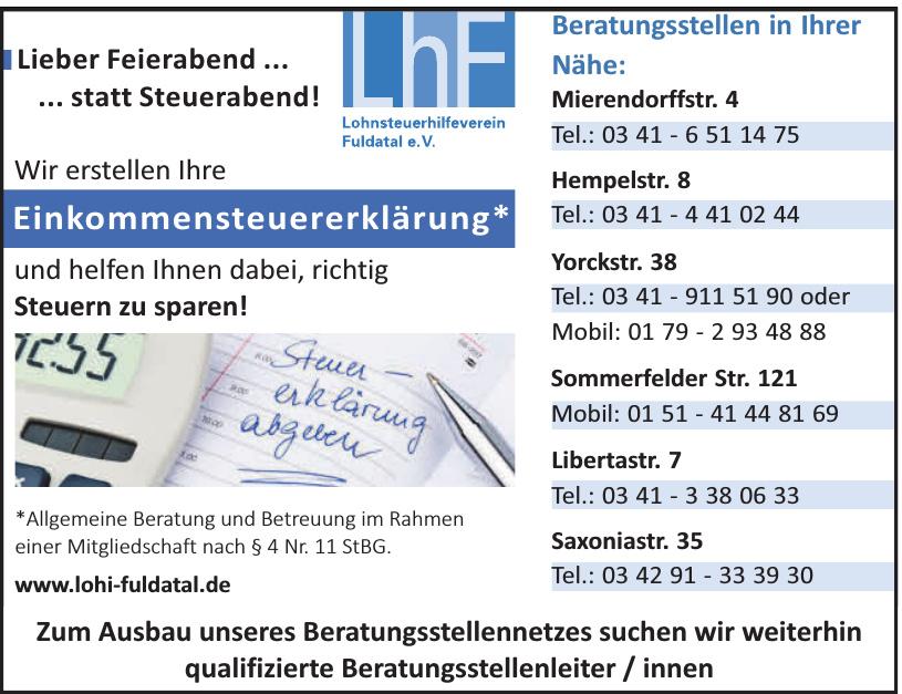 Lohnsteuerhilfeverein Fuldatal e. V.