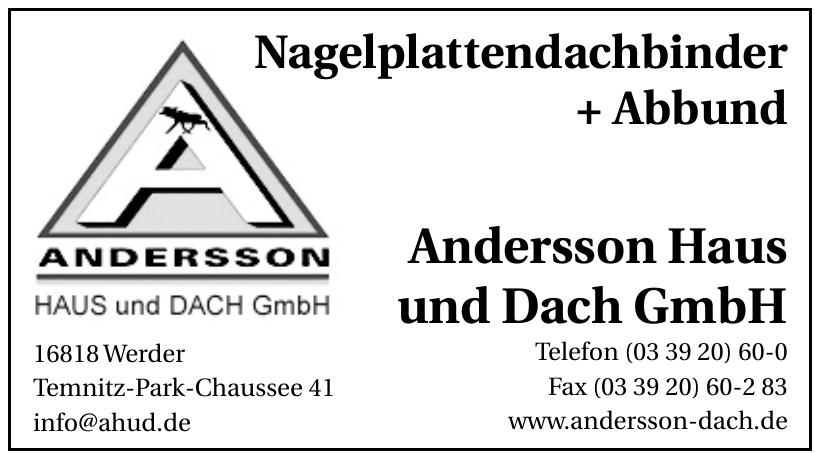 Andersson Haus und Dach GmbH