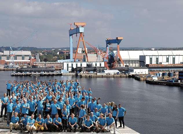 """Unter dem Motto """"Komm zu uns an Bord"""" starten dieses Jahr wieder 63 junge Menschen ihre Ausbildung am Kieler und Hamburger Standort von thyssenkrupp Marine Systems.       FOTO: THYSSENKRUPP MARINE SYSTEMS"""