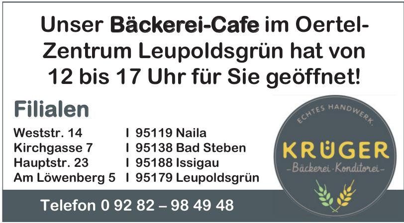 Krüger Bäckerei, Konditorei