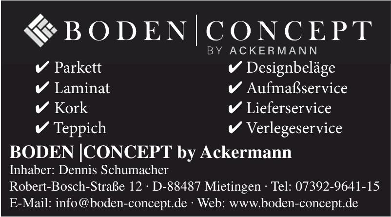 Boden Concept by Ackermann