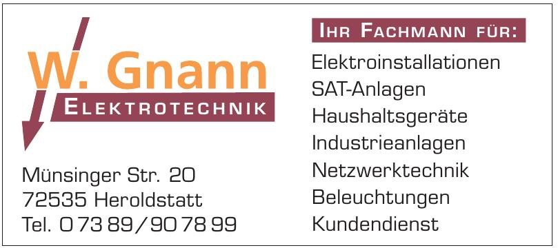 W. Gnann Elektrotechnik