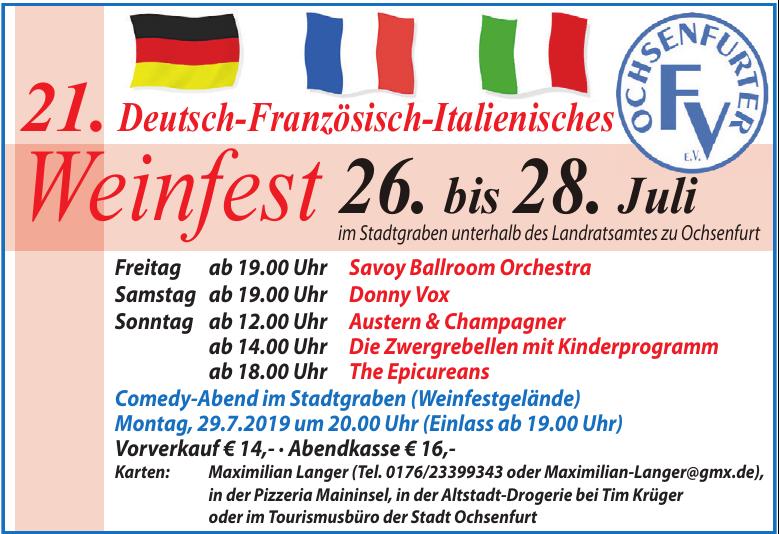 21. Deutsch-Französisch-Italienisches Weinfest