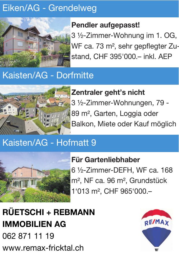 Remax - Rüetschi + Rebmann Immobilien AG