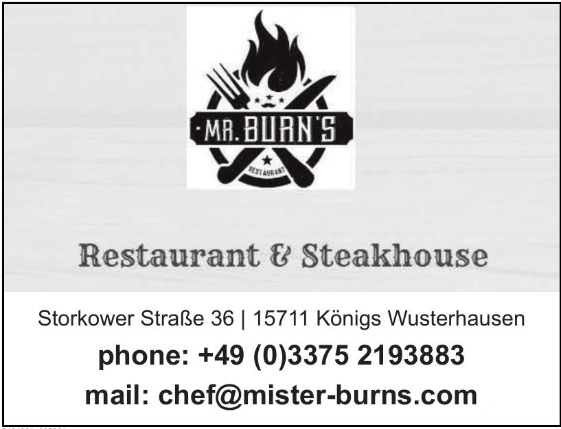 Restaurant & Steakhouse Mister Burns