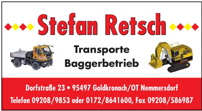 Stefan Retsch Transporte Baggerbetrieb