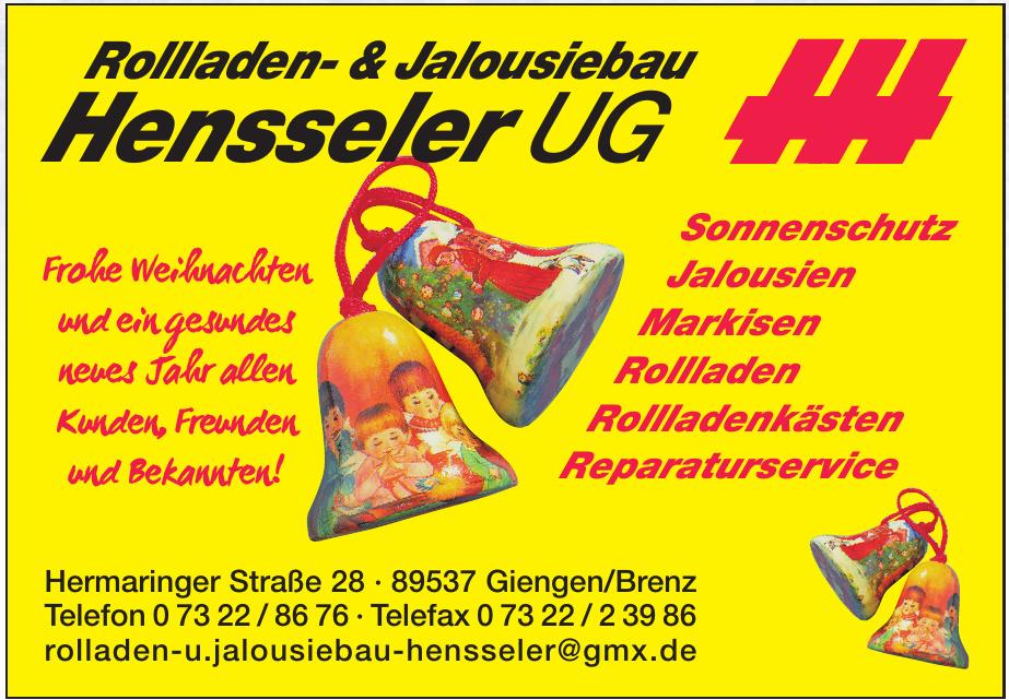 Rollladen- & Jalousiebau Hensseler UG