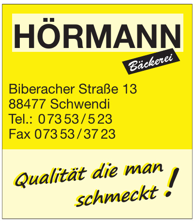 Hörmann Bäckerei