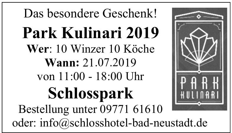Schlosshotel Bad Neustadt-Park Kulinari