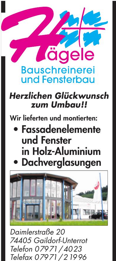 Hägele Bauschreinerei und Fensterbau