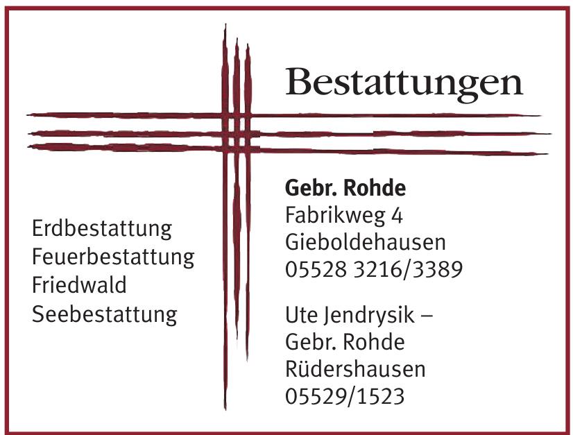 Bestattungen Gebr. Rohde