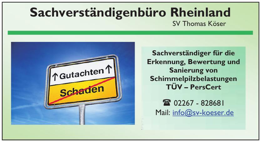 Sachverständigenbüro Rheinland