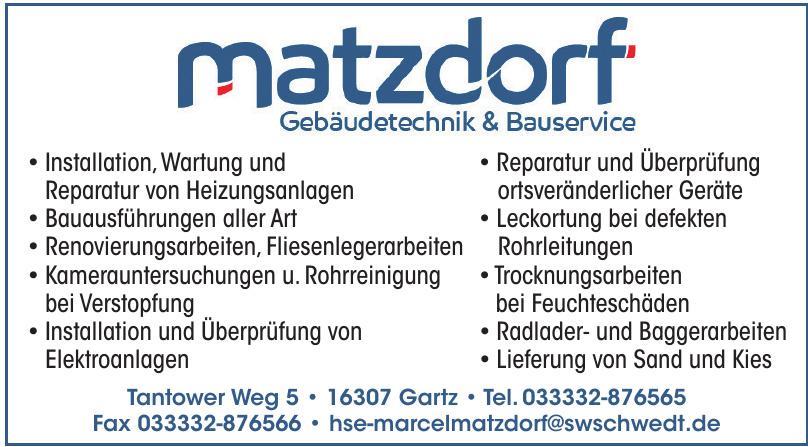 Matzdorf Gebäudetechnik & Bauservice
