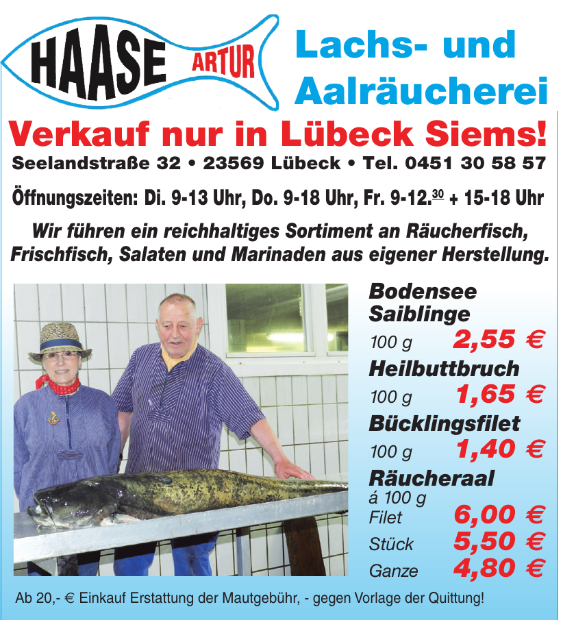 Haase Artur Lachs- und Aalräucherei