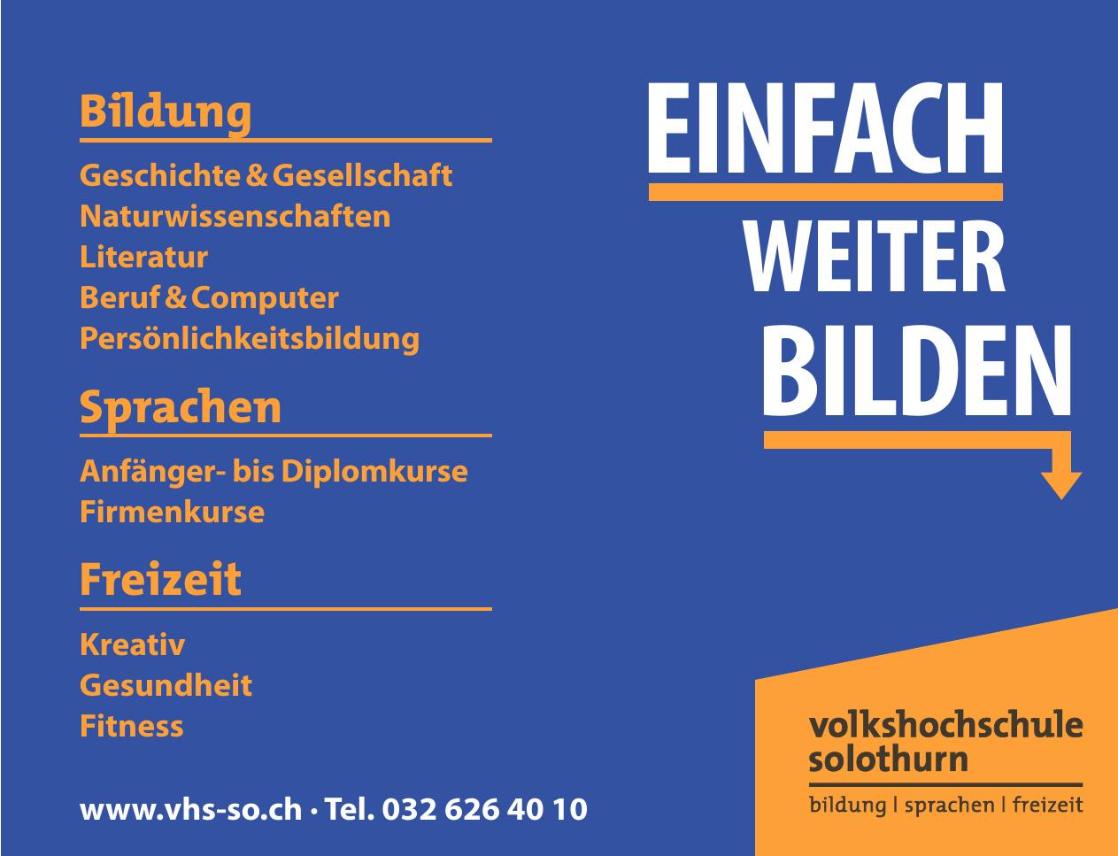 VHS Volkshochschule Solothurn