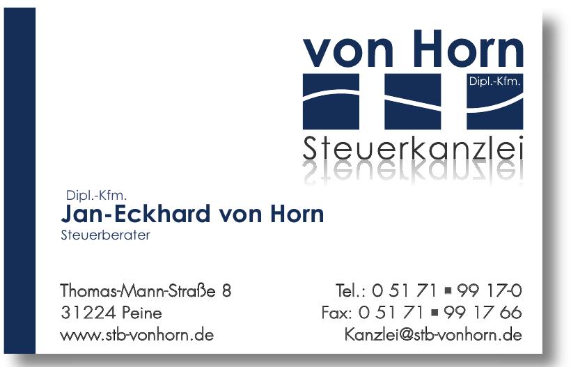 Dipl.-Kfm. Jan-Eckhard von Horn, Steuerberater