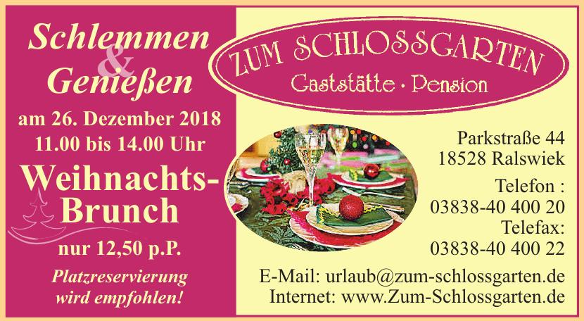 Gaststätte-Pension Zum Schlossgarten