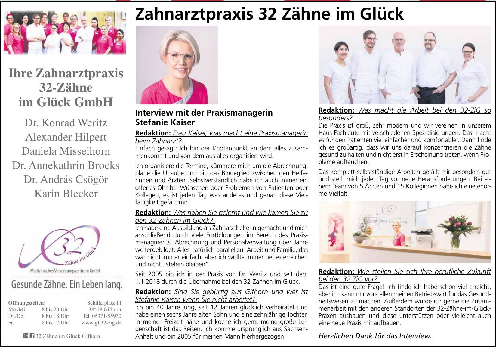 Zahnarztpraxis 32-Zähne im Glück GmbH