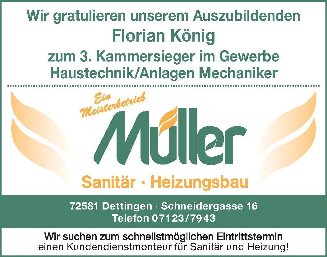 Meisterbetrieb Müller Sanitär Heizungsbau