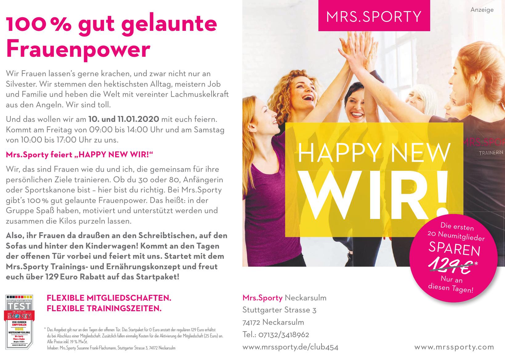 Mrs. Sporty Neckarsulm