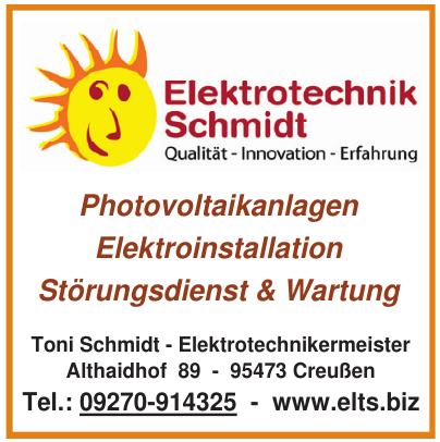 Toni Schmidt - Elektrotechnikermeister
