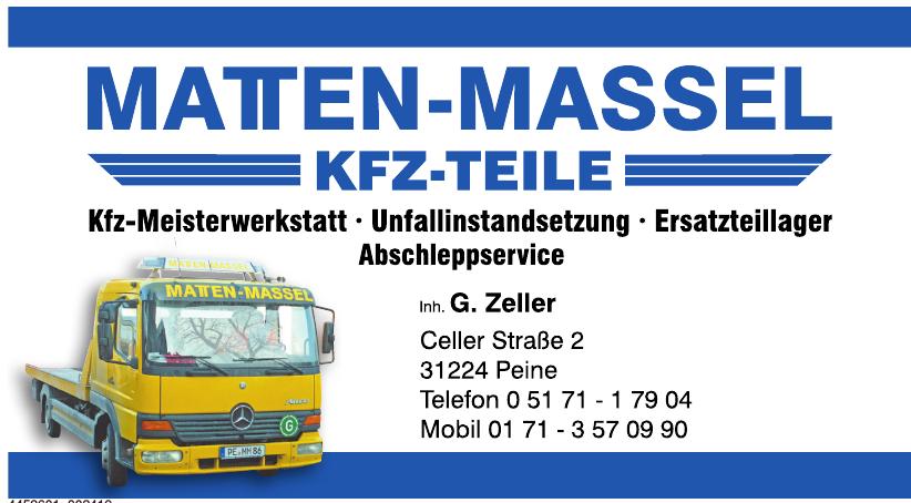 Matten-Massel Kfz-Teile
