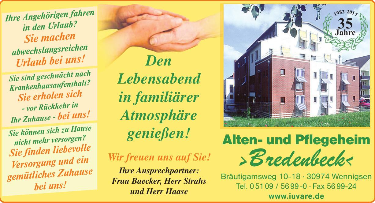 Alten- und Pflegeheim »Bredenbeck«