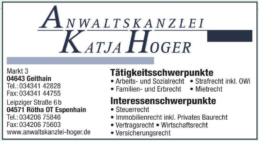 Anwaltskanzlei Katja Hoger