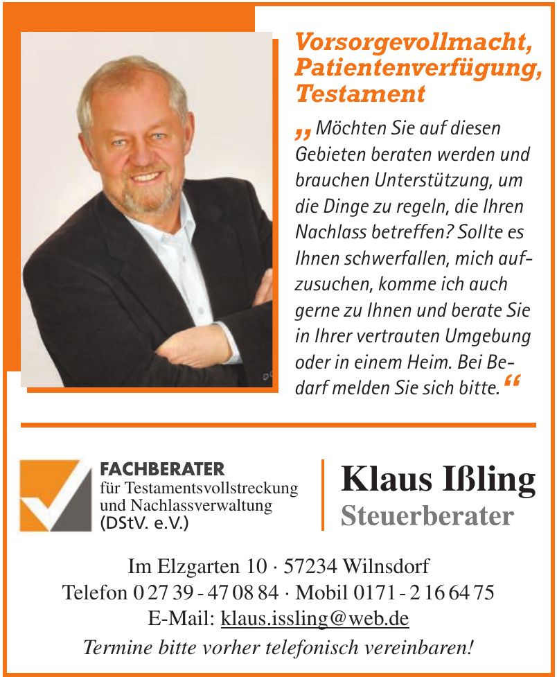 Klaus Ißling Steuerberater