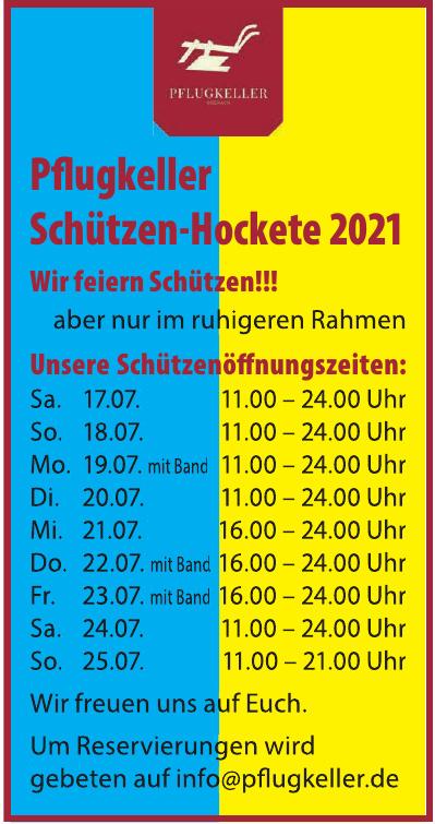 Pfugkeller Schützen-Hockete 2021
