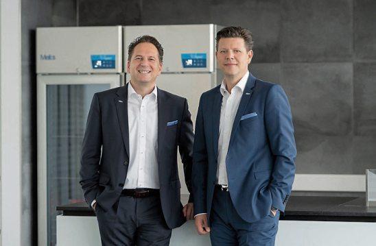 Geschäftsführender Gesellschafter Markus Sidler (links) und der Geschäftsführer Vertrieb/Marketing Andreas Lindauer.