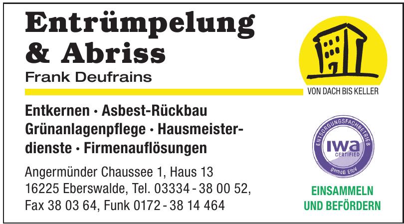 Entrümpelung & Abriss Frank Deufrains