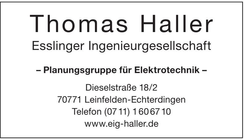Thomas Haller Esslinger Ingenieurgesellschaft