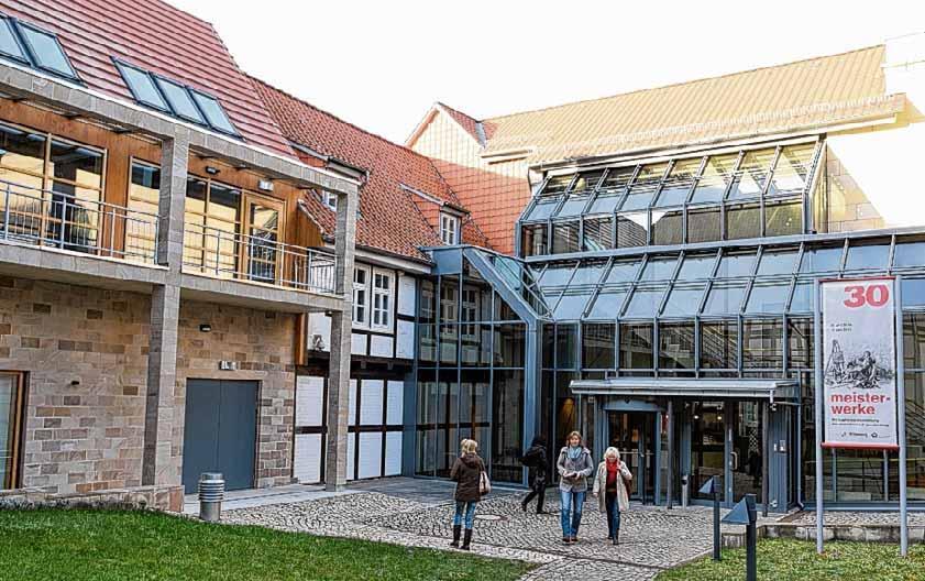 Die Lyonel Feininger Galerie in Quedlinburg beherbergt etwa 40 Exponate des Bauhaus-Künstlers. Foto: dpa