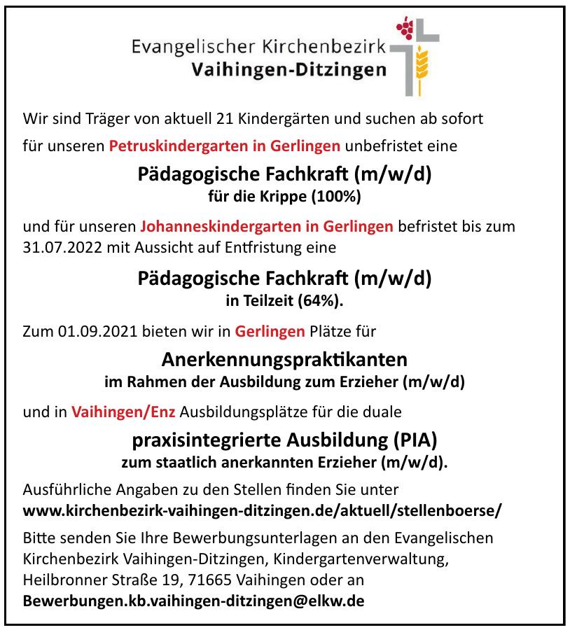 Evangelischer Kirchenbezirk Vaihingen-Ditzingen