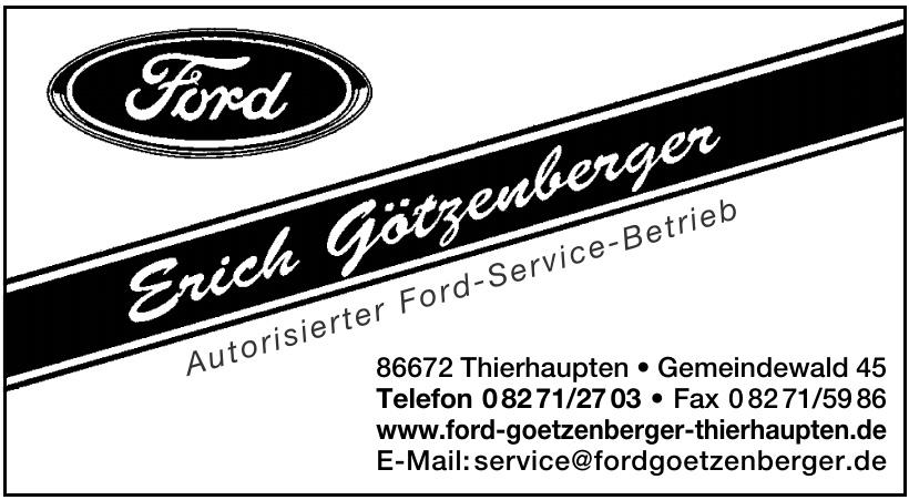 Erich Götzenberger - Autorisierter Ford-Service-Betrieb