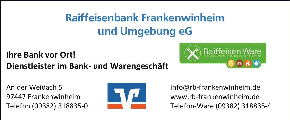 Raiffeisenbank Frankenwinheim und Umgebung eG