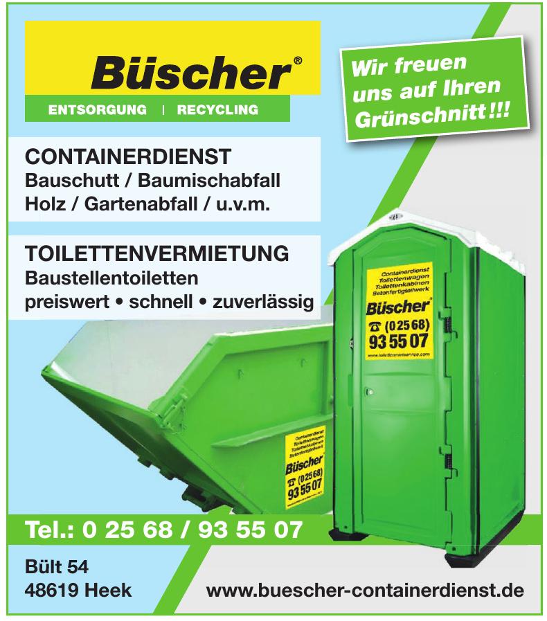 Büscher Entsorgung, Recycling