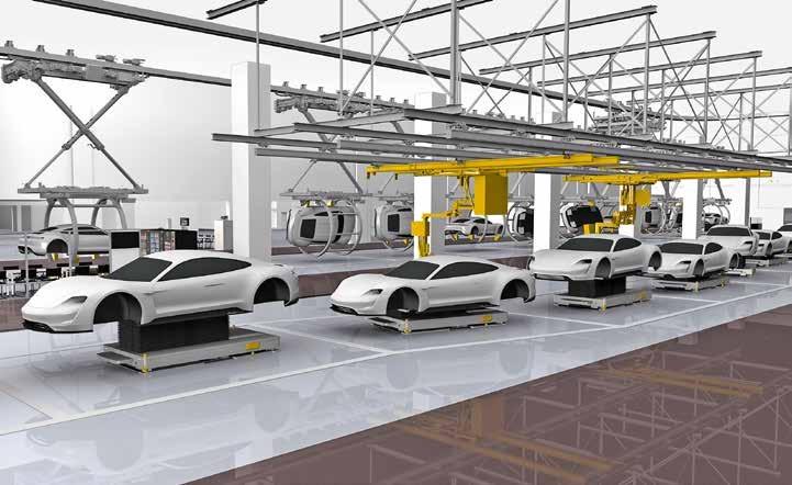 Electrique La Porsche Taycan aura une autonomie purement électrique d'environ 500 kilomètres.