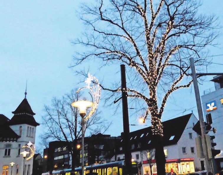 Wie schon im vergangenen Jahr soll auch 2019 wieder die Weihnachtsbeleuchtung erstrahlen. Foto: Archiv